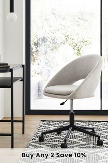 Soft Marl Warm Grey Hewitt Office Chair With Black Base