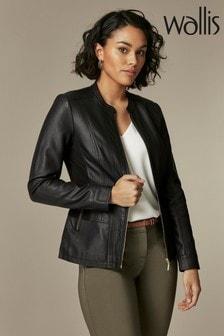 Wallis Black Whitney Ponte Side Centre Front Jacket