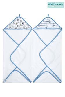 aden + anais  Essentials Hooded Towels Two Pack Disney™ Baby - Mickey Stargazer