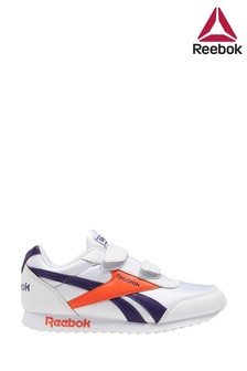 Reebok Silver/Navy Royal Junior Trainers