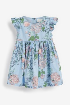 Blue Floral Prom Dress And Knickers Set (0mths-2yrs)
