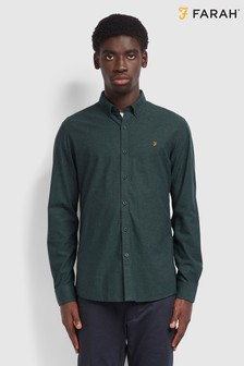 Farah Green Steen Slim Shirt