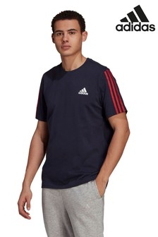 adidas 3 Stripe Knit T-Shirt