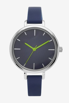 Navy Technical Strap Face Watch