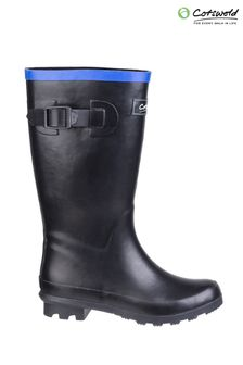 Cotswold Black Fairweather Junior Wellington Boots