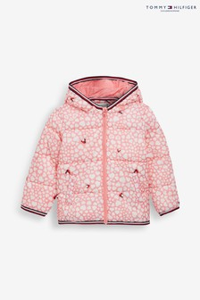 Tommy Hilfiger Pink Baby Printed Padded Jacket