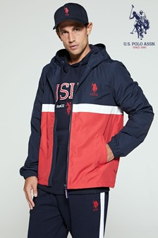 U.S. Polo Assn. Blue Colourblock Windcheater