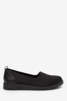 Black Motion Flex Slip-On Shoes