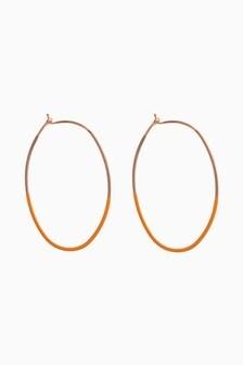 Ochre/Gold Tone Coated Hoop Earrings