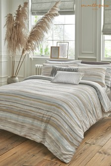 Sam Faiers Blue Serena Stripe Mineral Duvet Cover and Pillowcase Set