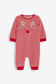 Red Christmas Reindeer Dress Up Sleepsuit (0mths-3yrs)