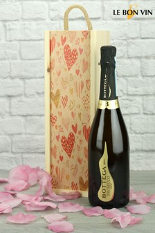 Vintage Prosecco In A Love Heart Gift Set by Le Bon Vin