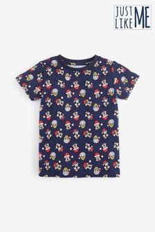 Navy Matching Family Kids Disney™ Christmas T-Shirt (3mths-8yrs)