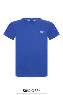 Baby Boys Blue Branded Top