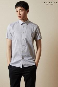 Ted Baker Namaste Short Sleeve Geo Print Shirt