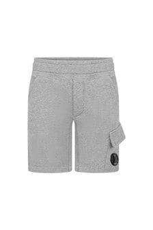 CP Company Boys Grey Cotton Shorts