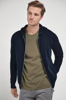 Navy Premium Knitted Hoodie