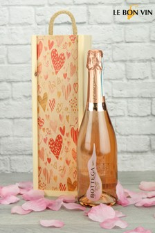 Sparkling Rosé Wine In A Love Heart Gift Set by Le Bon Vin