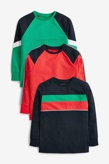 Multi 3 Pack Colourblock T-Shirts (3-16yrs)