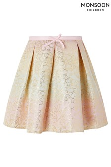 Monsoon Natural Floral Sherbert Ombre Jacquard Skirt