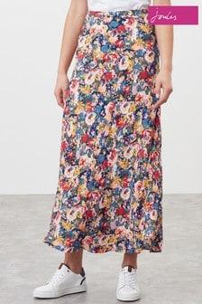 Joules Blue Coletta Bias Cut Skirt