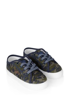 Boys Camouflage Trainers