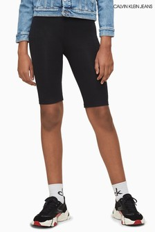 Calvin Klein Black Branded Cycling Shorts