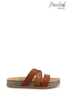 BlowfishTan Frenchy-B Platform Slide Sandals