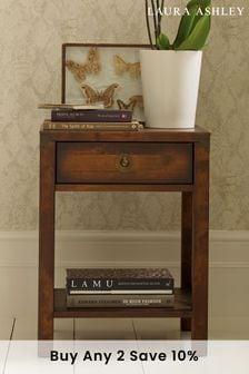Dark Chestnut Balmoral Dark Chestnut 1 Drawer Side Table by Laura Ashley