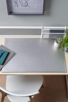 Silver Desk Mat
