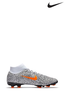 Nike White/Orange CR7 Superfly 7 Academy Multi Ground Football Boots
