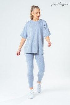Hype. Women's Grey Oversized T-Shirt And Leggings Set