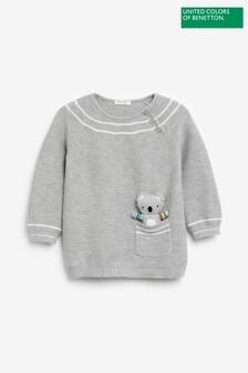 Benetton Grey Knit Jumper