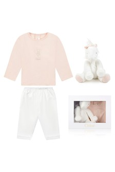 Baby Ivory Cotton Trousers 3 Piece Gift Set