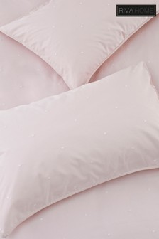 Set of 2 Strand Washed Cotton Pillowcases by Riva Home