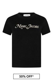Boys Black Cotton New York T-Shirt