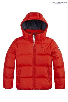 Tommy Hilfiger Red Essential Down Jacket
