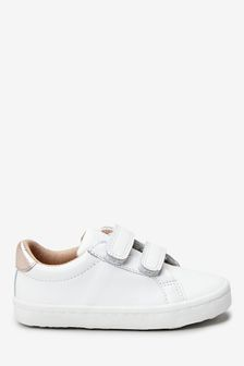 White Leather Trainers (Younger)
