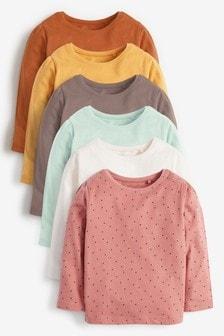 Tonal 6 Pack Cotton T-Shirts (3mths-7yrs)