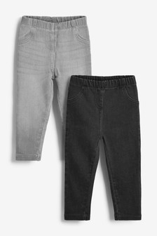 Charcoal Grey 2 Pack Jeggings (3mths-7yrs)