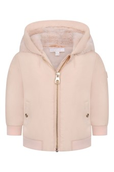 Baby Girls Pink Hooded Jacket
