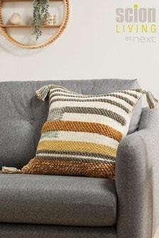 Scion Living At Next Ochre/Natural Parwa Woven Cushion