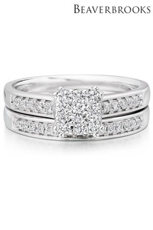 Beaverbrooks 18ct Diamond Bridal Set Rings