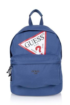Kids Navy Logo Backpack