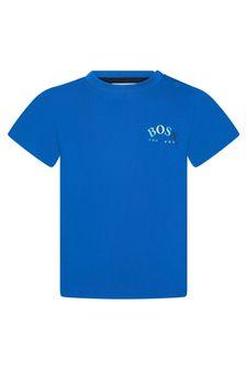 Boss Kidswear BOSS Baby Boys Blue Cotton T-Shirt