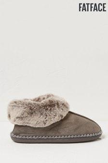 FatFace Grey Maya Slipper Boots