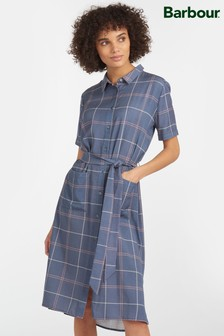 Barbour® Tartan Blue Check Brunswick Shirt Dress