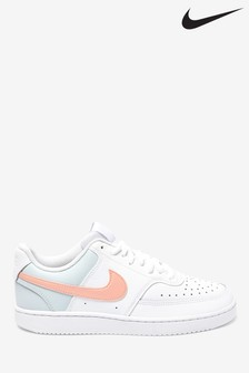 Nike White Contrast Court Vision Trainers