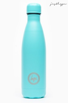 Hype. Light Blue Top Metal Reusable Bottle