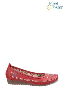 Fleet & Foster Red Algarve Moccasins